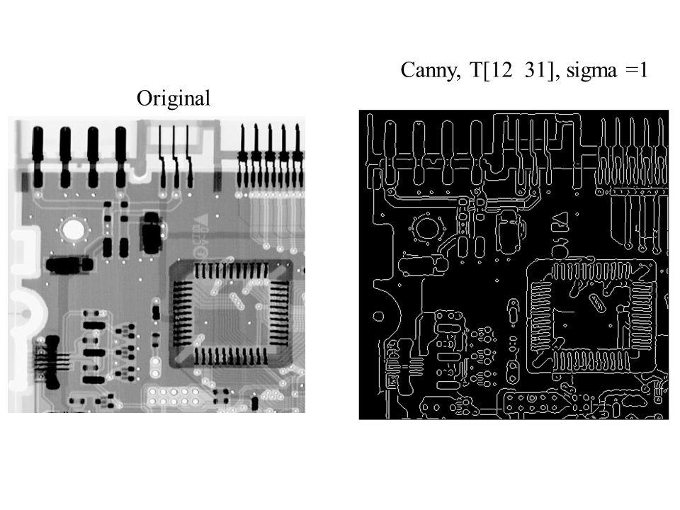 Canny, T[12 31], sigma =1 Original